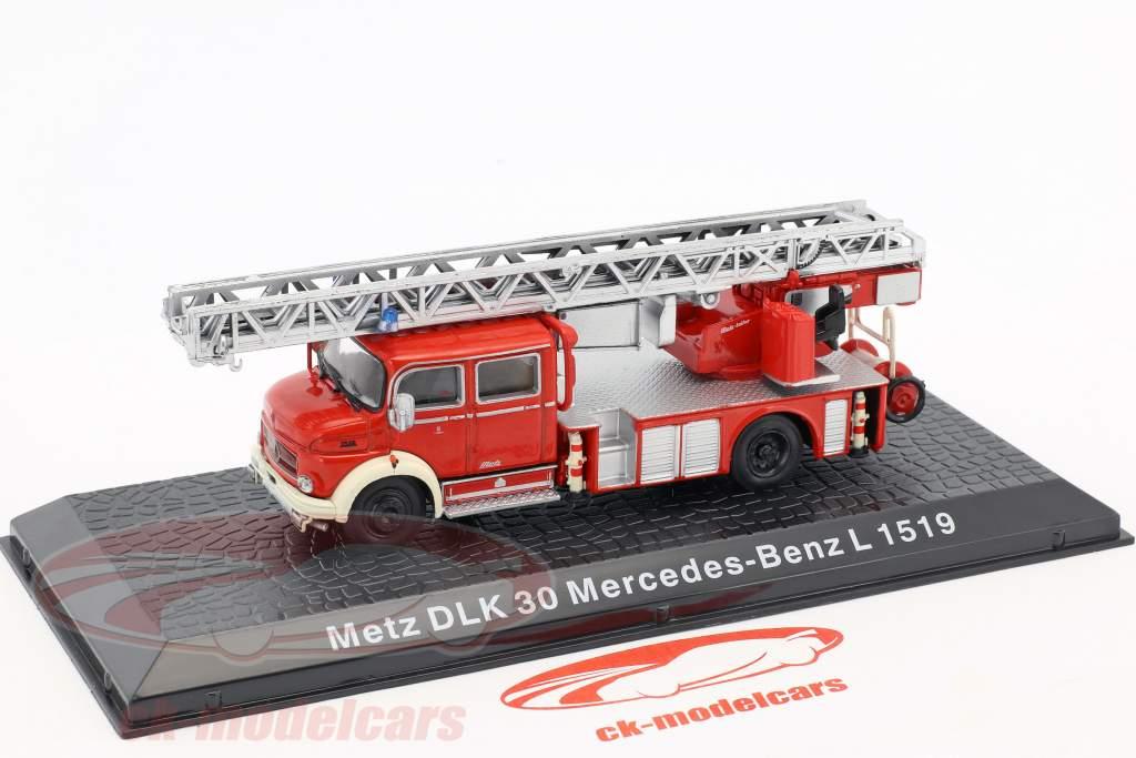 Mercedes-Benz L1519 Metz DLK30 fire Department 1:72 Altaya