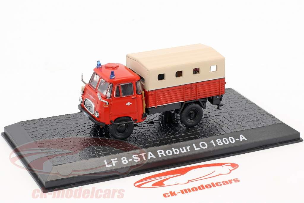 Robur LO 1800-A LF8-STA fire Department 1:72 Altaya