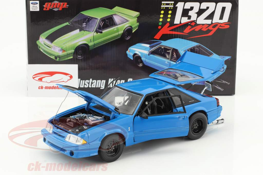 Ford Mustang Cobra King Snake 1320 Drag Kings anno di costruzione 1993 grabber blu 1:18 GMP