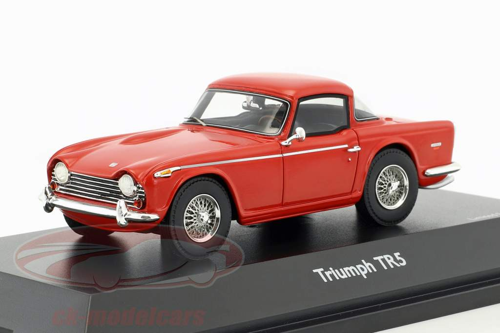 Triumph TR5 closed Top rouge 1:43 Schuco