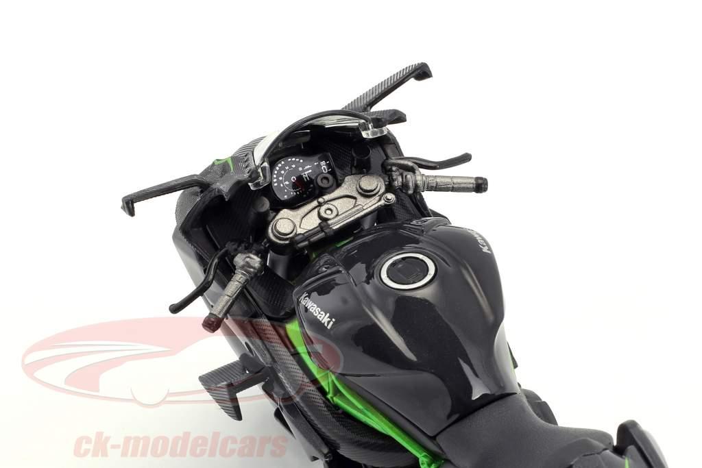 Kawasaki Ninja H2 R gris foncé 1:12 Maisto