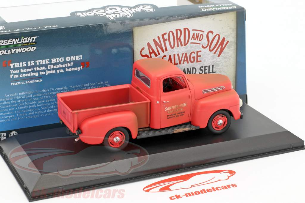 Ford F-1 Pick-Up Baujahr 1952 TV-Serie Sanford & Son (1972-77) rot 1:43 Greenlight