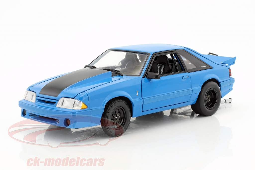 Ford Mustang Cobra King Snake 1320 Drag Kings year 1993 grabber blue 1:18 GMP