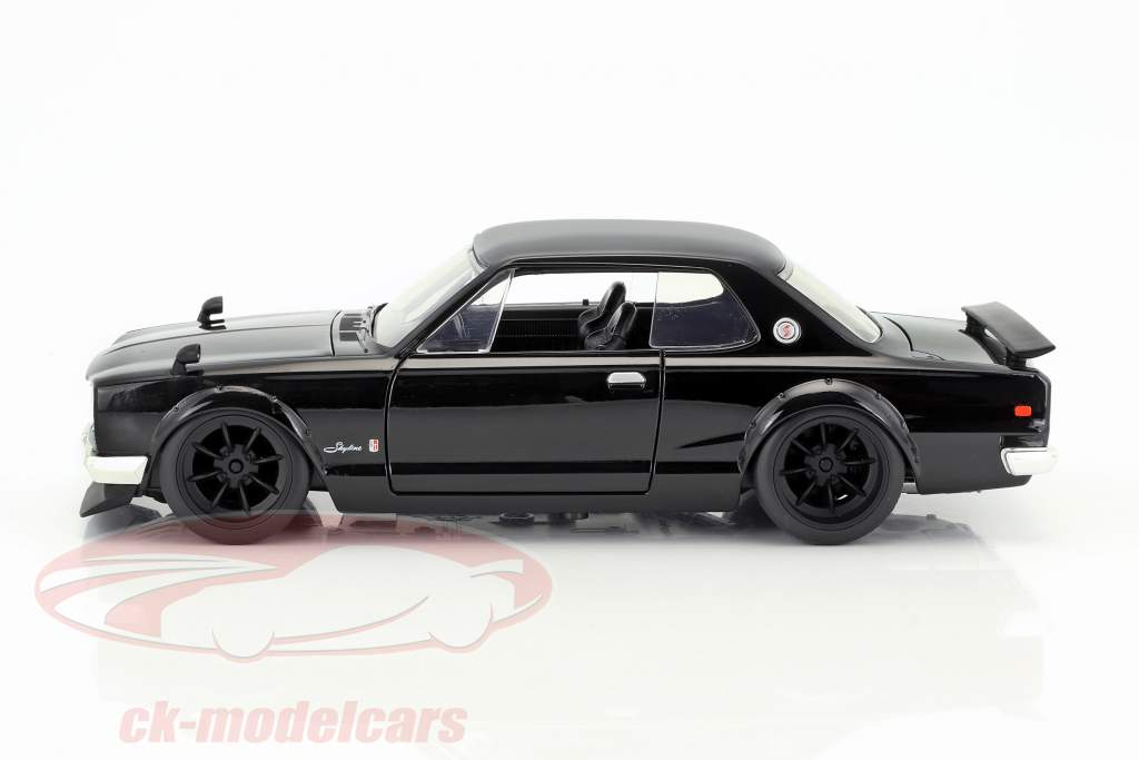 Brian's Nissan Skyline 2000 GTR Movie Fast & Furious Five (2011) black 1:24 Jada Toys