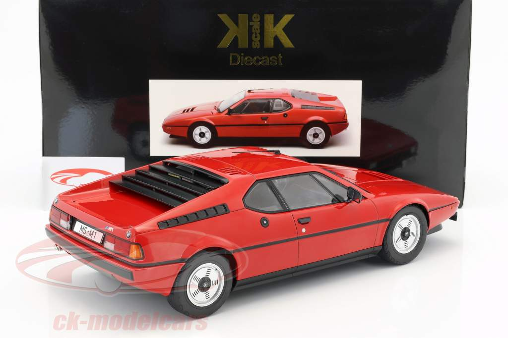 BMW M1 (E26) Street year 1978 red 1:12 KK-Scale