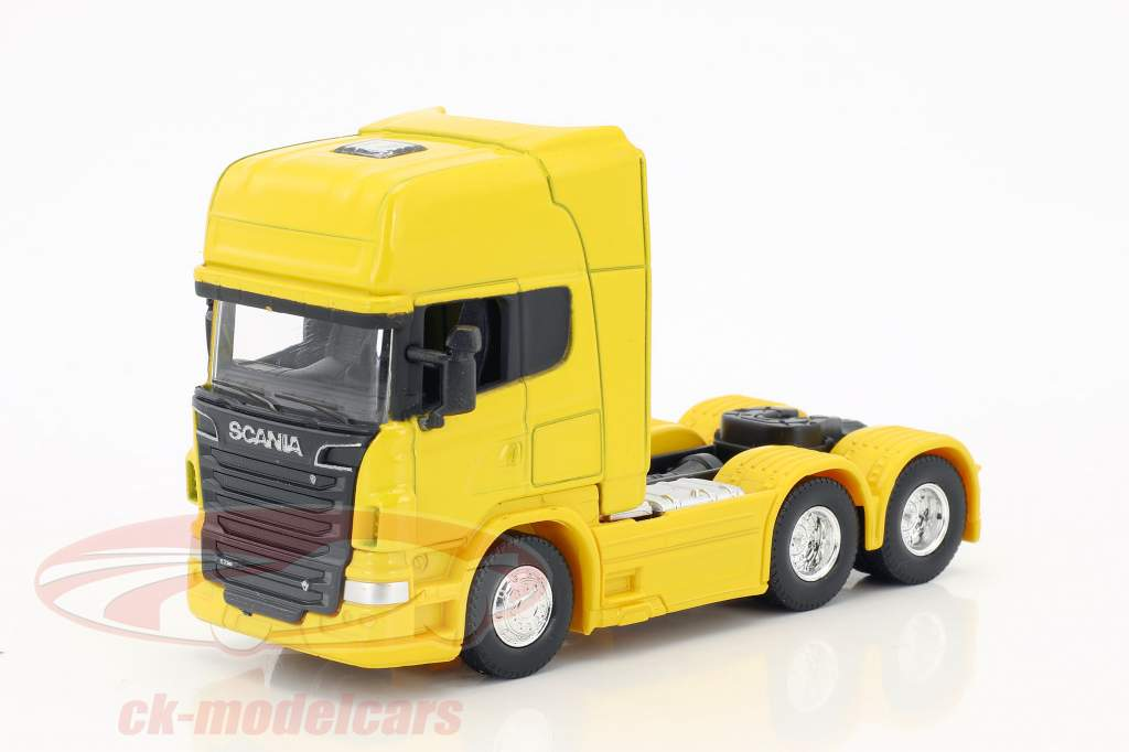 Scania V8 R730 (6x4) gelb 1:64 Welly