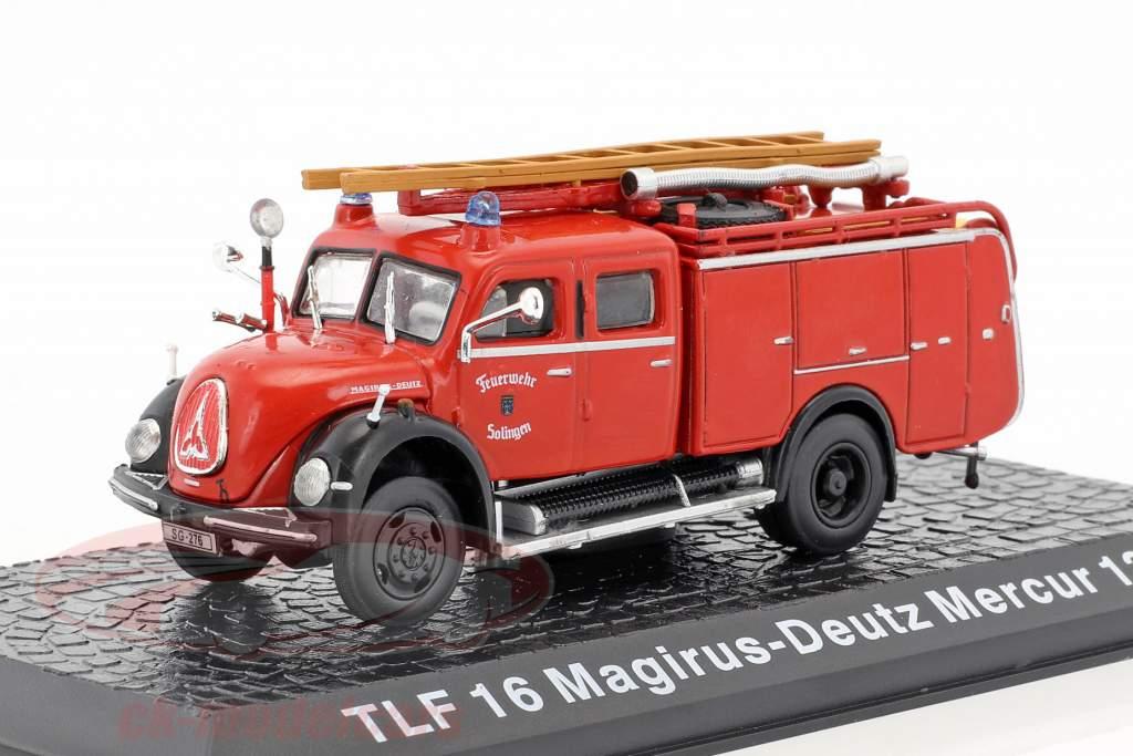 Magirus Deutz Mercur 125A TLF 16 pompiers Solingen 1:72 Altaya
