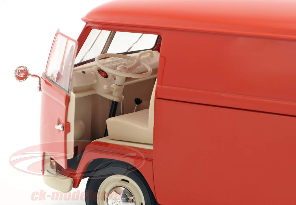 Volkswagen VW T1 Bus van année de construction 1963 rouge 1:18 Welly