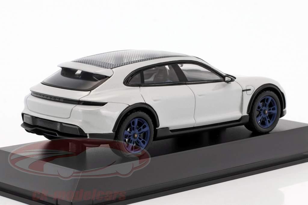 Porsche Mission E Cross Turismo anno di costruzione 2018 grigio chiaro metallico / blu cerchioni 1:43 Spark