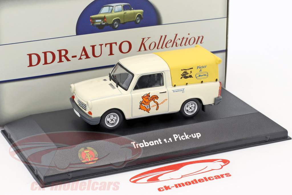 Trabant 1.1 Pick-up bianco / giallo 1:43 Atlas