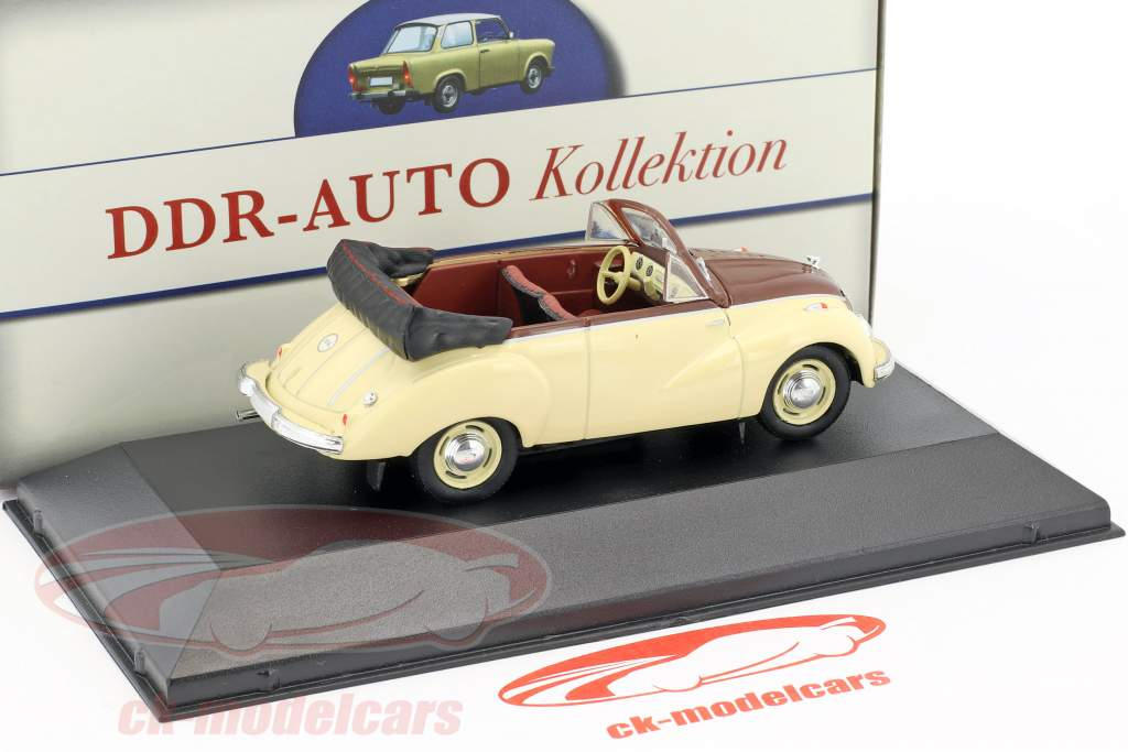 IFA F9 Cabriolet 468 beige / braun 1:43 Atlas