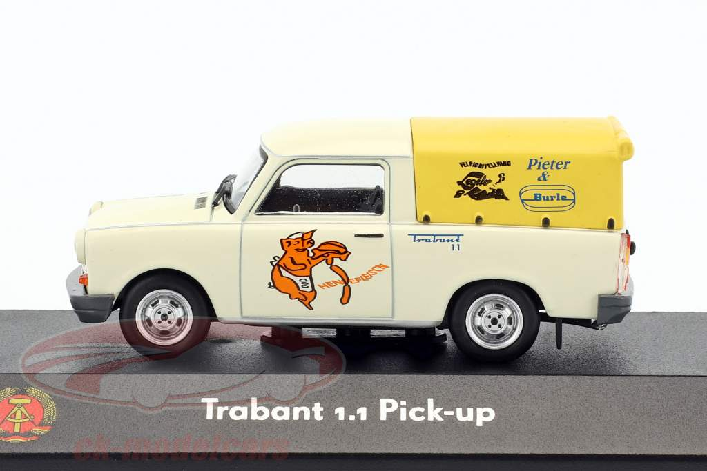 Trabant 1.1 Pick-up blanc / jaune 1:43 Atlas