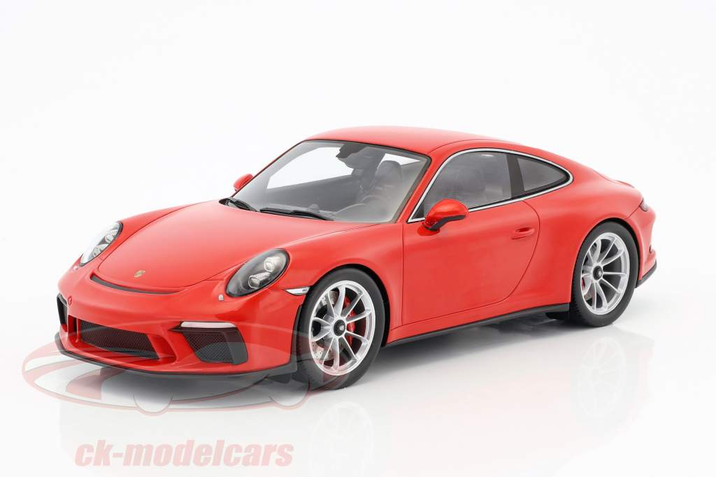 Porsche 911 (991 II) GT3 Touring Package guardie rosso con vetrina 1:18 Spark