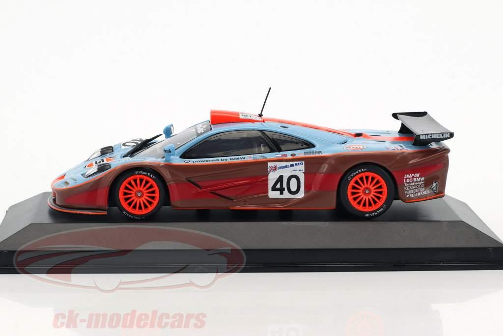 McLaren F1 GTR #40 24h LeMans 1997 Nielsen, Bscher, Goodwin 1:43 Minichamps falso imballaggio