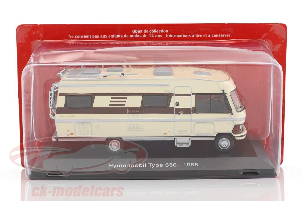 Hymermobil Type 650 Baujahr 1985 beige / braun 1:43 Atlas