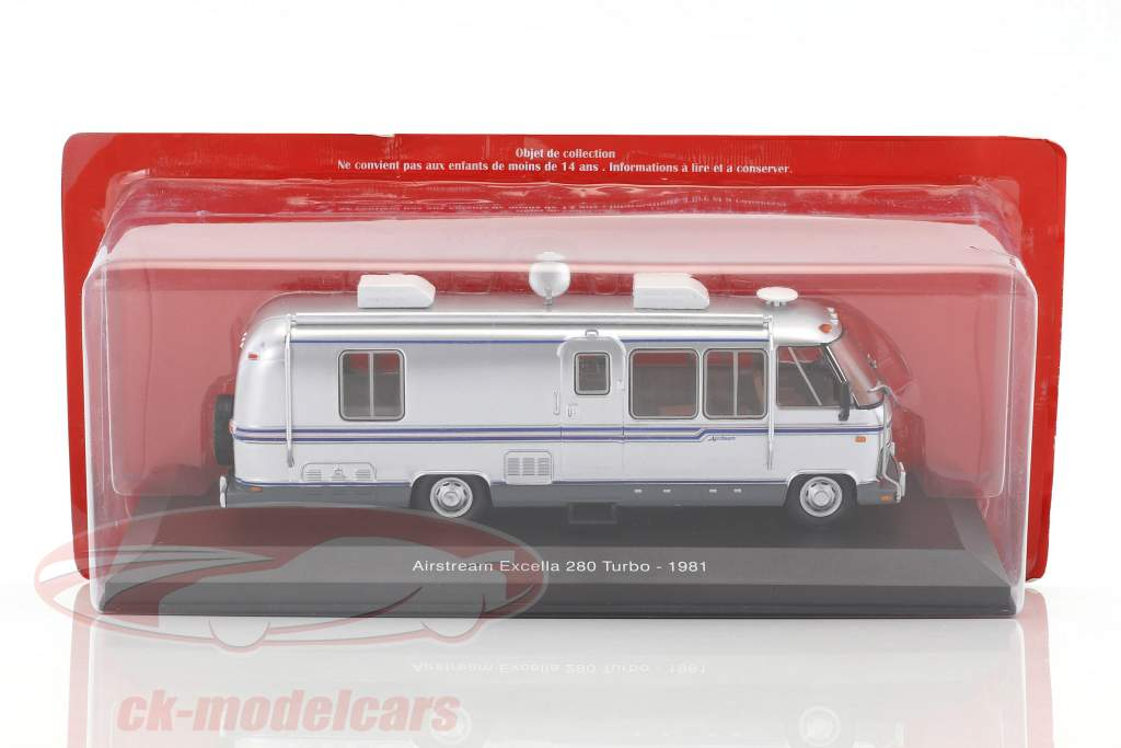 Airstream Excella 280 Turbo Motorhome year 1981 silver 1:43 Atlas