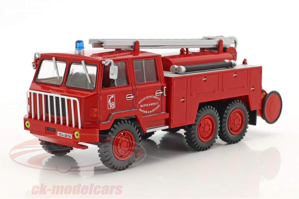 Berliet FF 6x6 FPT HR tanker Truck Fire Engine red 1:43 Atlas