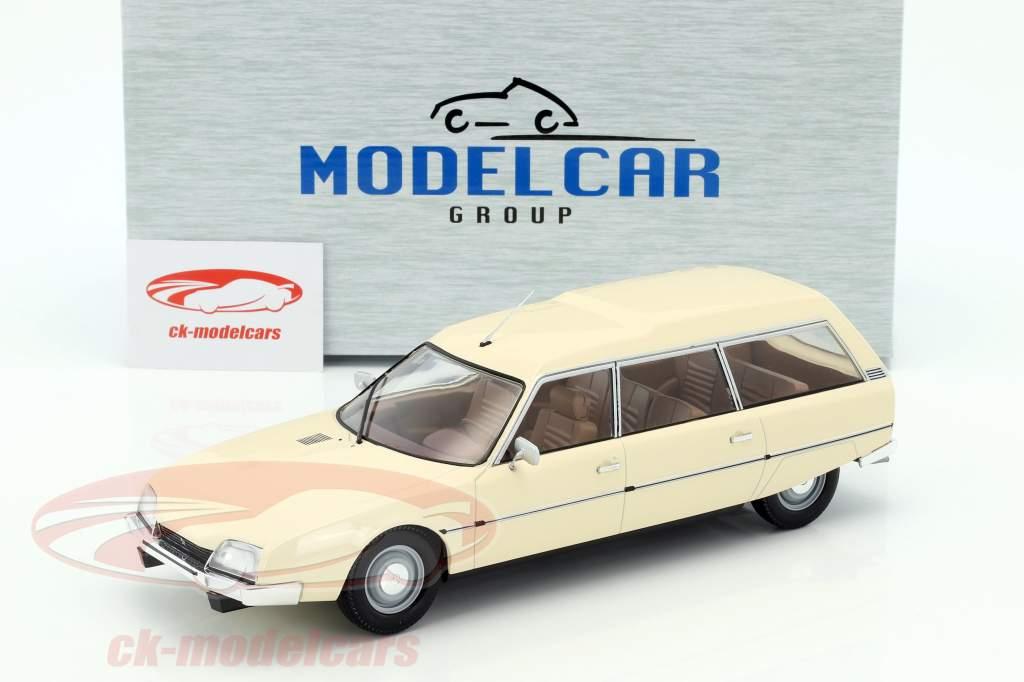 Citroen CX 2500D Super Break Serie I Baujahr 1976 beige 1:18 Model Car Group