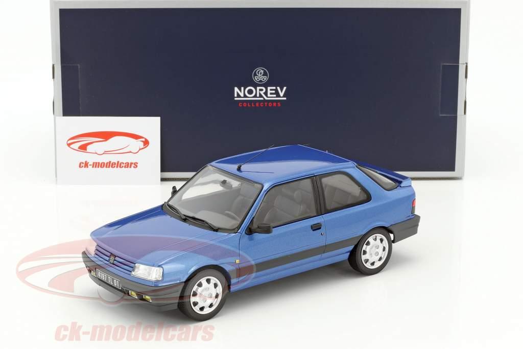 Peugeot 309 GTi 16V year 1991 blue metallic 1:18 Norev