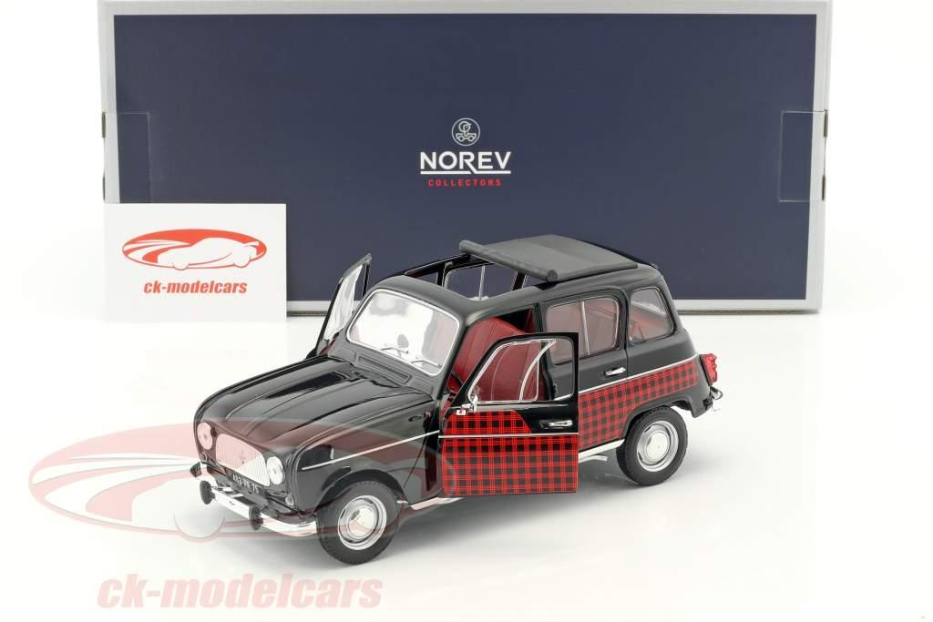 Renault 4 Parisienne Baujahr 1964 schwarz / rot 1:18 Norev