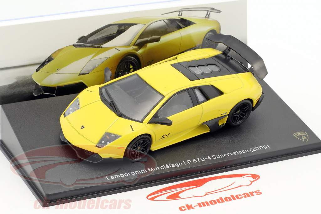 Lamborghini Murcielago LP 670-4 Superveloce year 2009 yellow 1:43 Leo Models