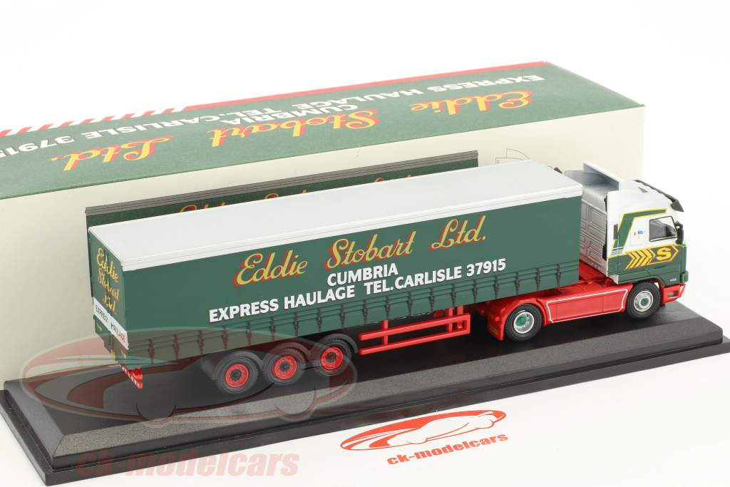 Scania R143M 420 Curtainside Bumble Bette H158 Stobart verde / bianco 1:76 Atlas