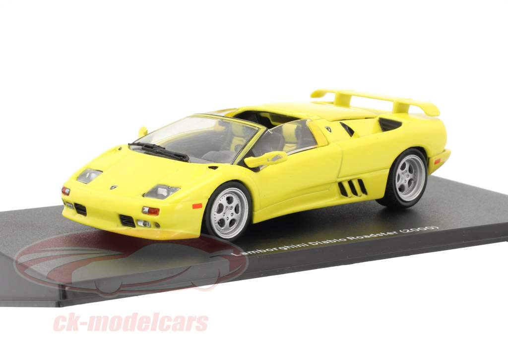 Lamborghini Diablo Roadster year 2000 yellow 1:43 Leo Models