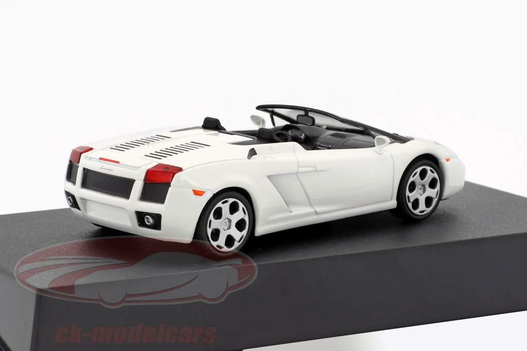 Lamborghini Gallardo Spyder année de construction 2005 blanc 1:43 Leo Models