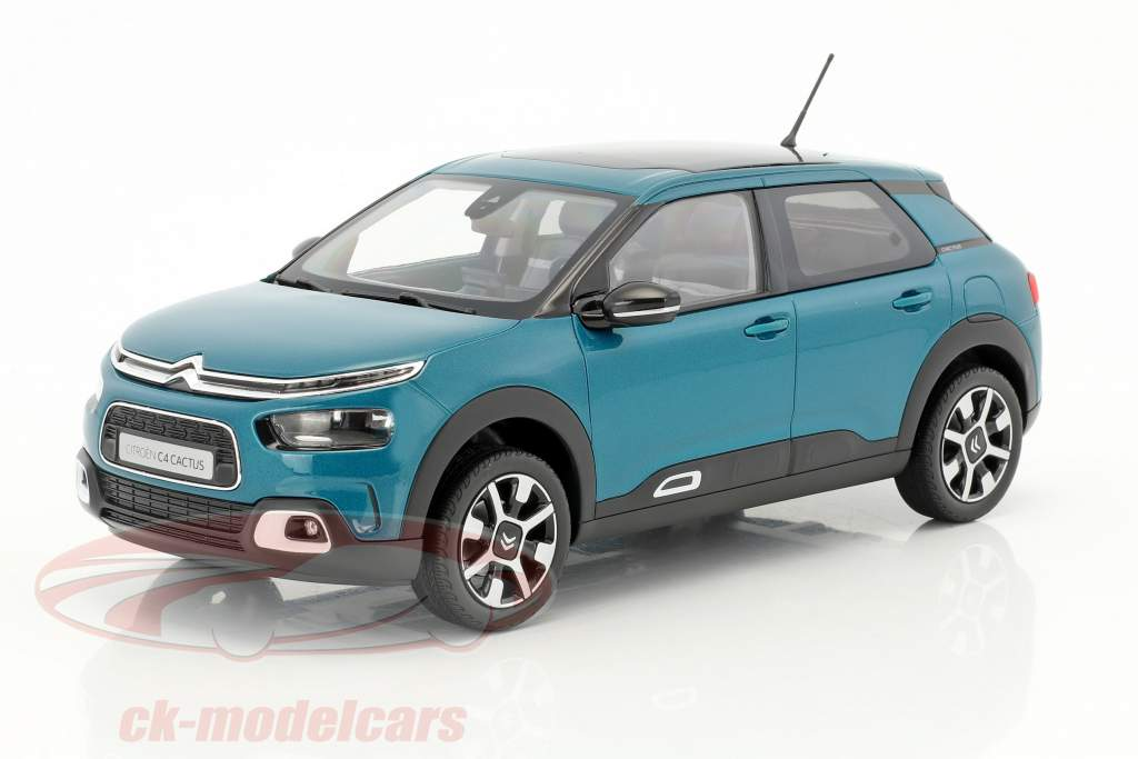 Citroen C4 Cactus W year 2018 emerald blue 1:18 Norev