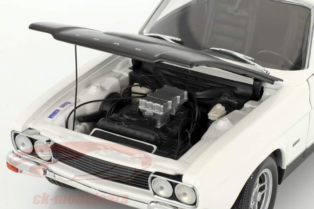 Ford Capri RS 2600 LHD year 1970 white / black 1:18 Minichamps