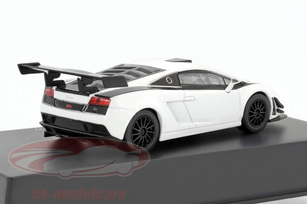 Lamborghini Gallardo LP 600+ year 2011 white / black 1:43 Leo Models