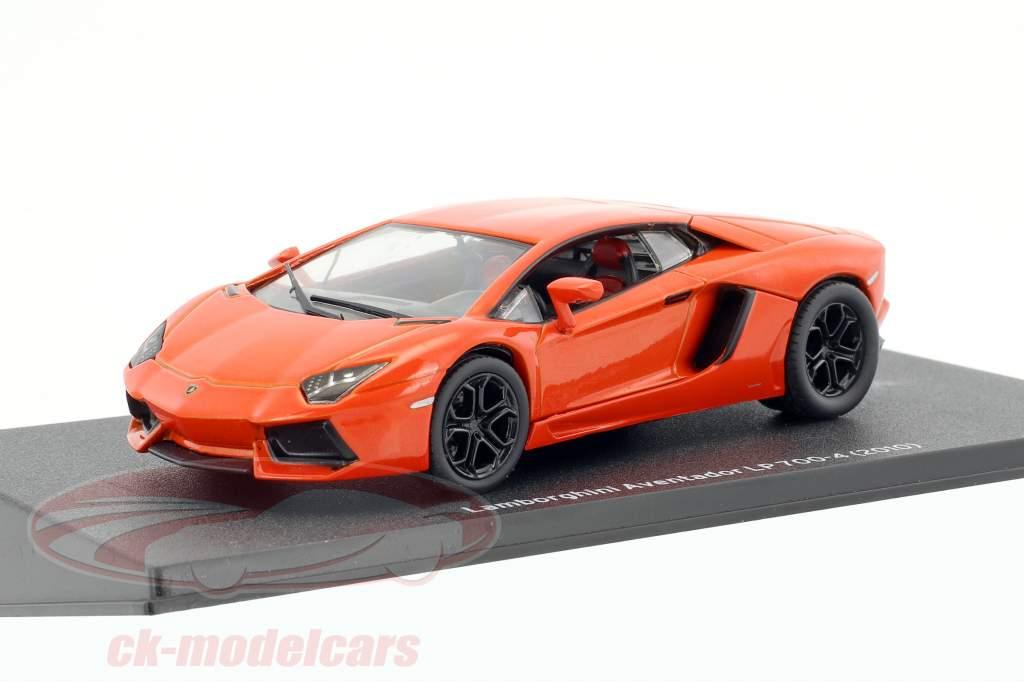 Lamborghini Aventador LP 700-4 année de construction 2010 orange 1:43 Leo Models