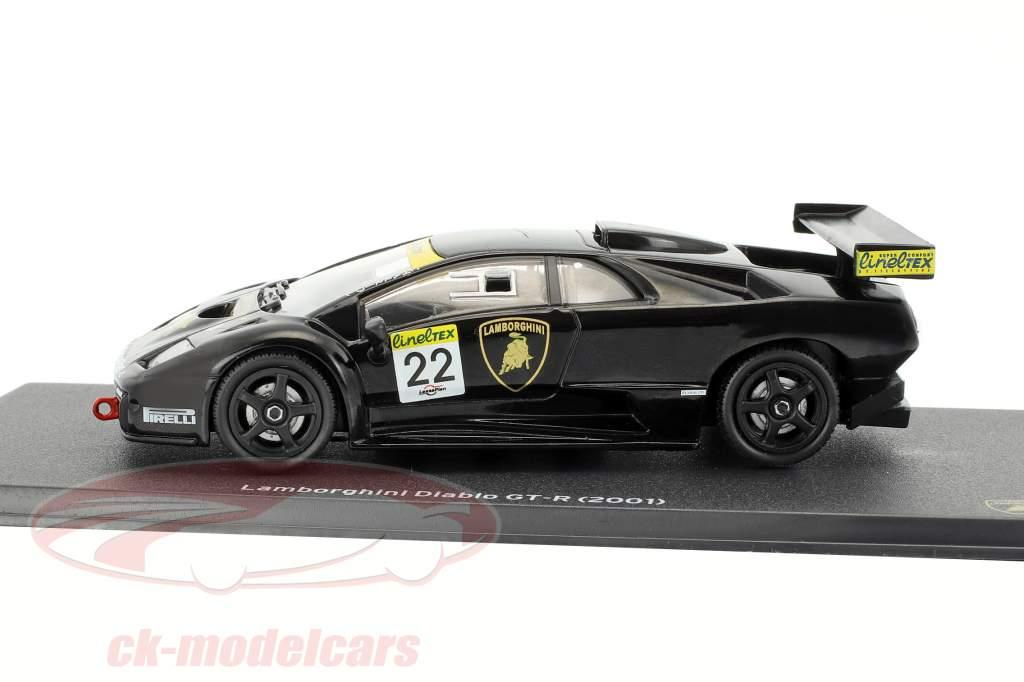 Lamborghini Diablo GT-R #22 schwarz 1:43 Leo Models