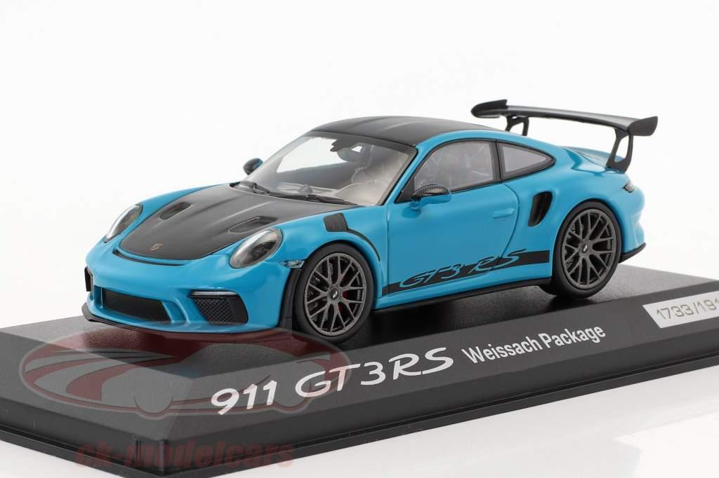 Porsche 911 (991 II) GT3 RS Weissach Package miami blue / black 1:43 Minichamps