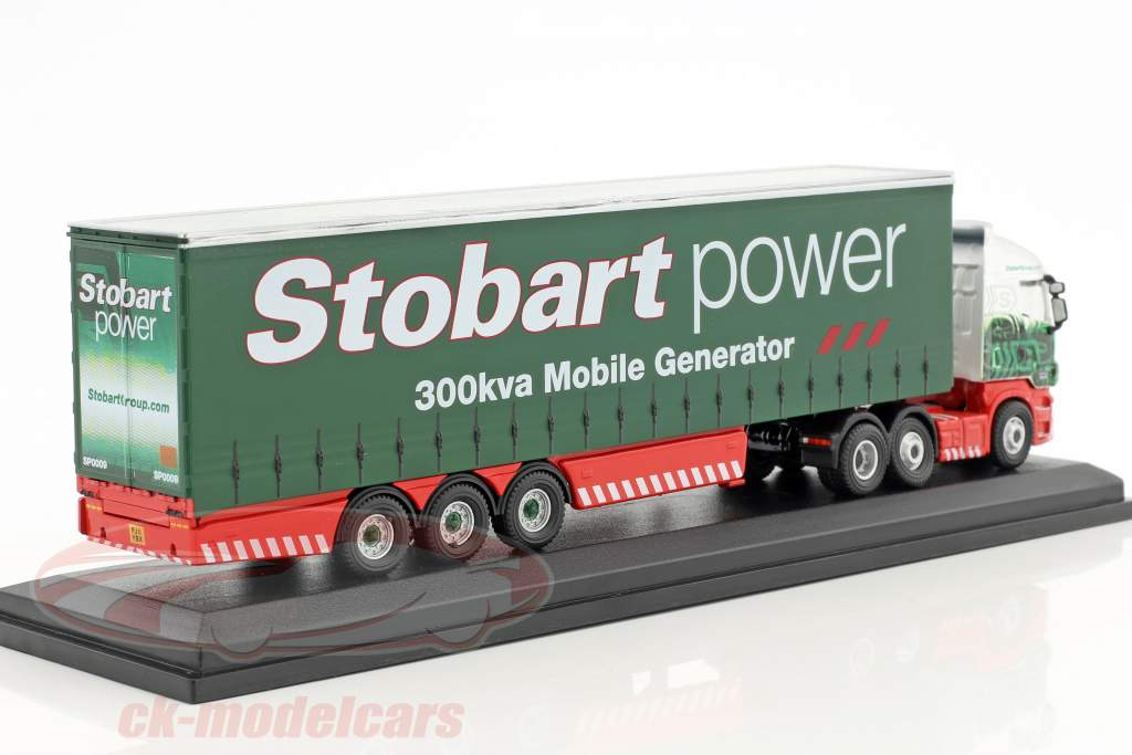 Scania Highline Curtainside Collette Cheryl  H6400 Stobart Power green / white 1:76 Atlas