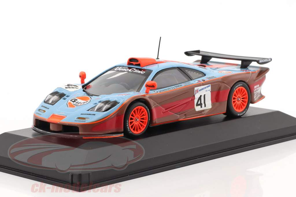 McLaren F1 GTR #41 2nd 24h LeMans 1997 Gulf Team Davidoff 1:43 Minichamps false packaging