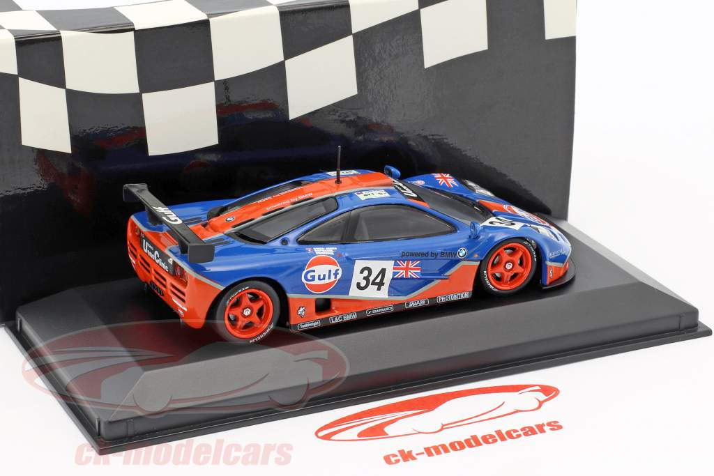 McLaren F1 GTR #34 5th 24h LeMans 1996 Gulf Racing 1:43 Minichamps Falsche Umverpackung