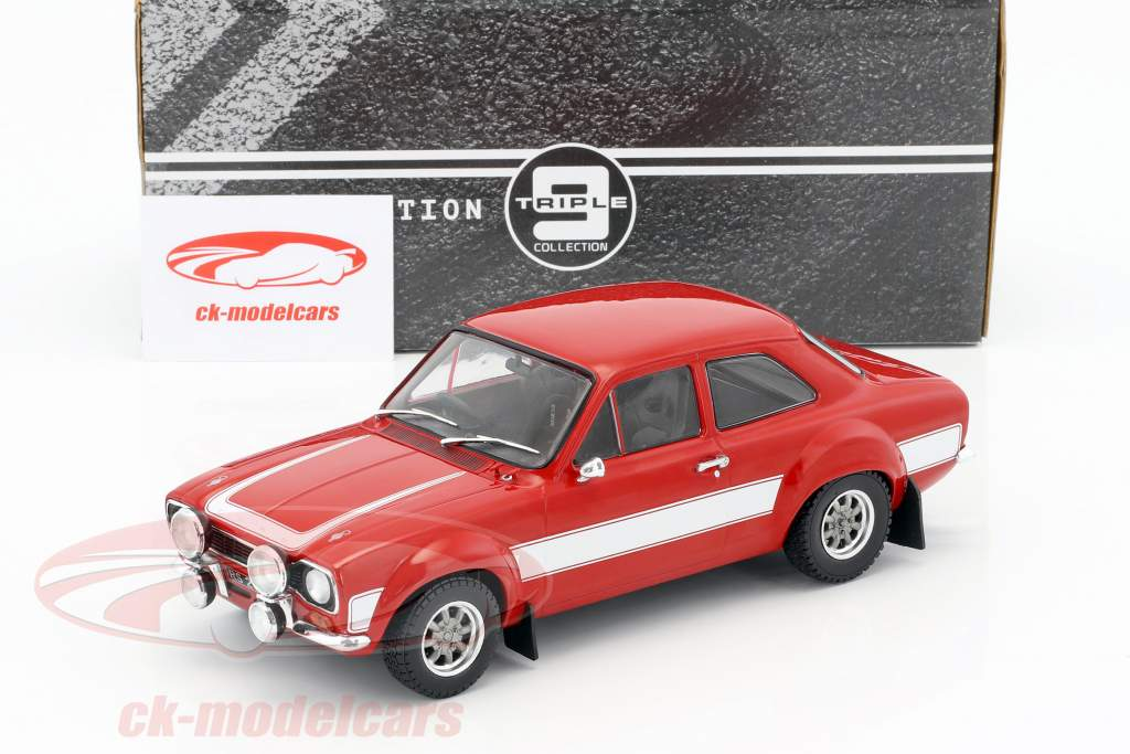 Ford Escort RS 2000 MKI year 1973 red / white 1:18 Triple9