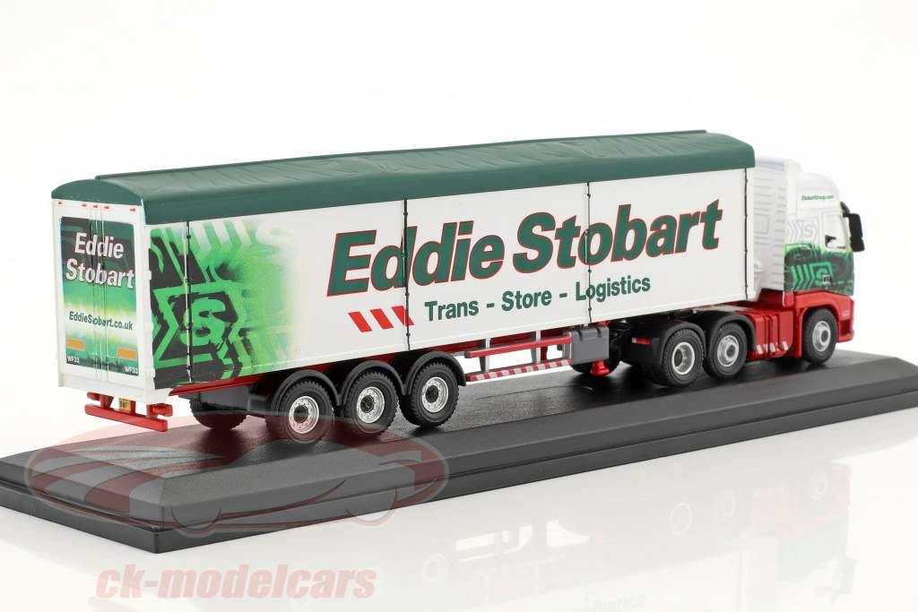 Volvo FH Walking Floor Trailer Grace Olivia H8505 Stobart green / White 1:76 Atlas