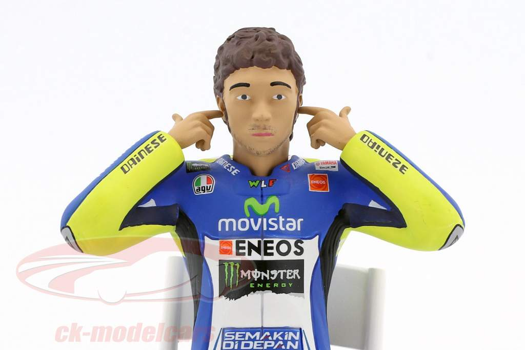 Valentino Rossi figure Checking the ear plugs MotoGP 2014 1:12 Minichamps
