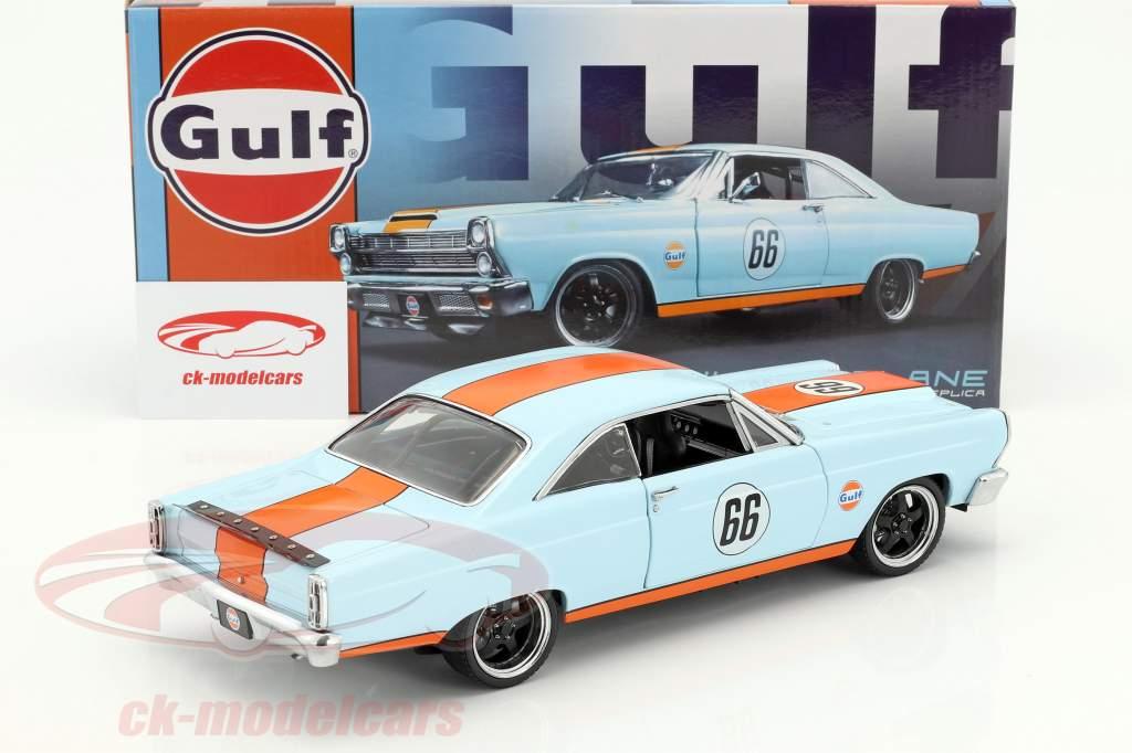 Ford Fairlane #66 Gulf Oil Baujahr 1966 hellblau / orange 1:18 GMP