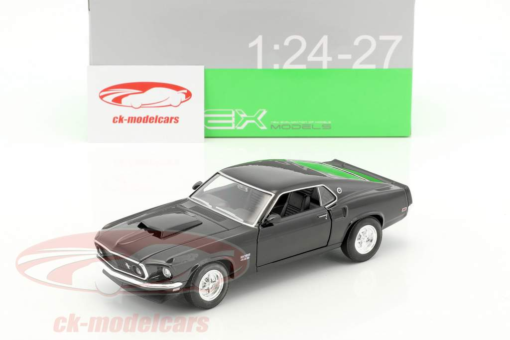 Ford Mustang Boss 429 année de construction 1970 noir 1:24 Welly