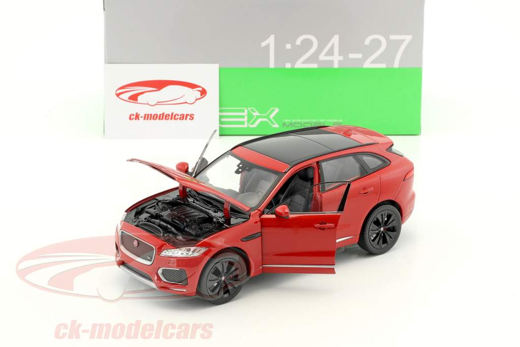 Jaguar F-Pace year 2016 red 1:24 Welly