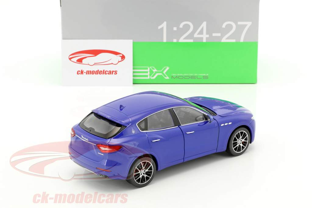Maserati Levante year 2017 blue 1:24 Welly