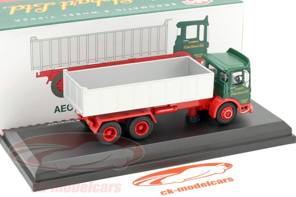 AEC Ergomatic 6-Wheel Tipper Stobart green / red / gray 1:76 Atlas