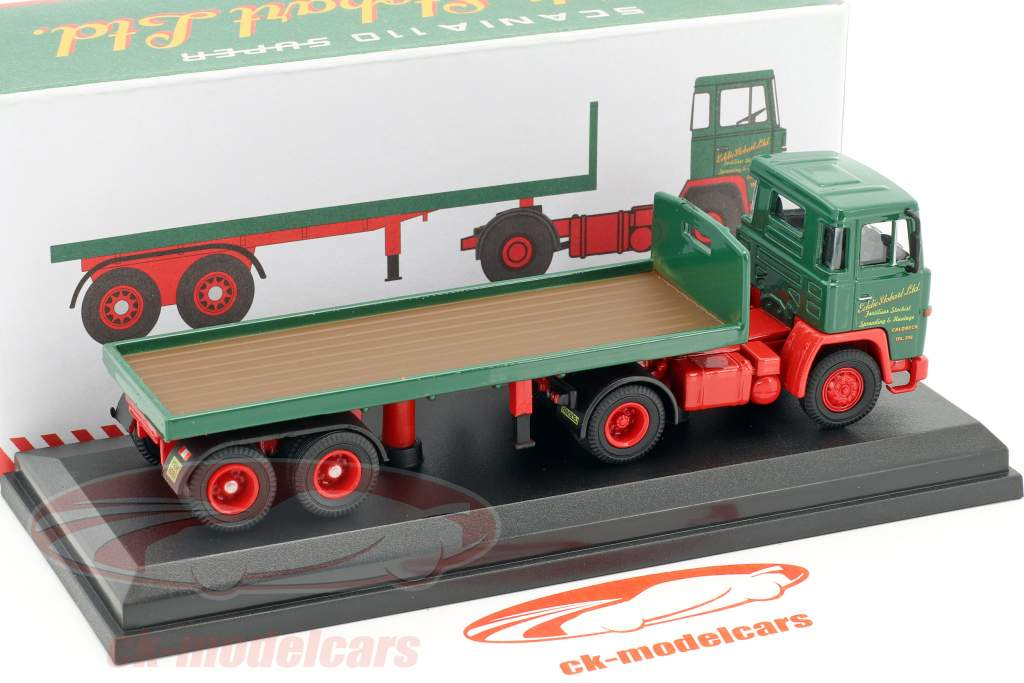Scania 110 Flatbed Trailer Stobart vert / rouge 1:76 Atlas