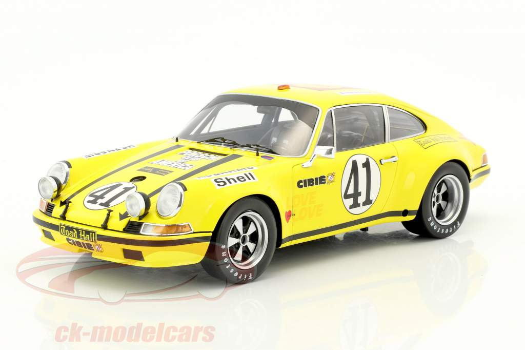 Porsche 911 S/T 2.5 coupé #41 24h LeMans 1972 Toad Hall Racing 1:18 Spark