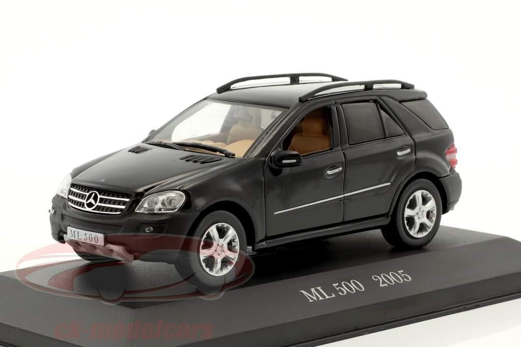 Mercedes-Benz ML 500 année de construction 2005 noir 1:43 Altaya
