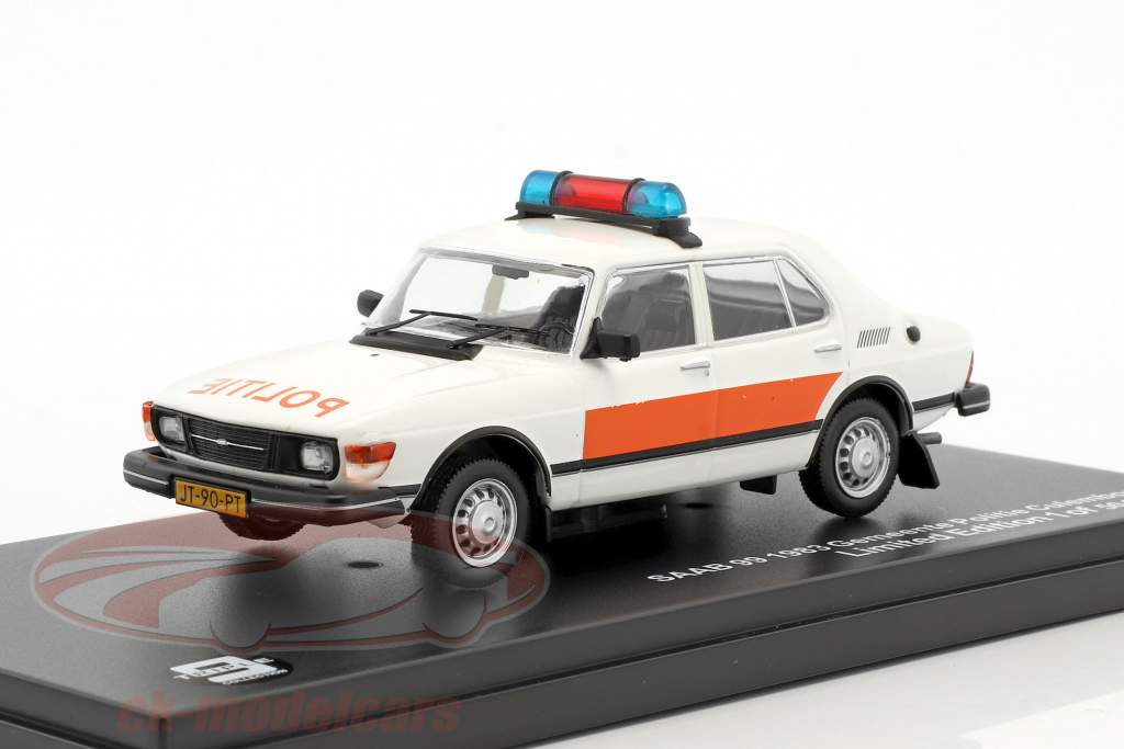 Saab 99 Gemeente Politie Culemborg year 1983 white / orange 1:43 Triple9