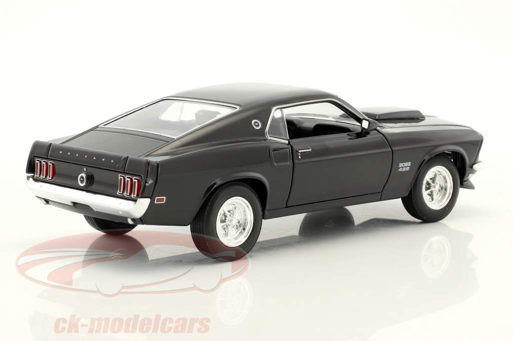 Ford Mustang Boss 429 Baujahr 1970 schwarz 1:24 Welly